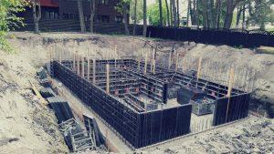 Pamatų statyba Palangoje