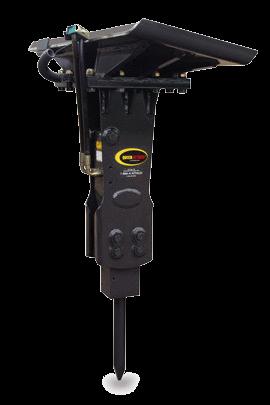 Mini krautuvo Bobcat S530 hidraulinis kūjis